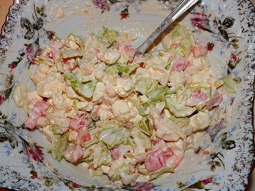 Przepis  sałatka z twarogu i świeżych warzyw przepis