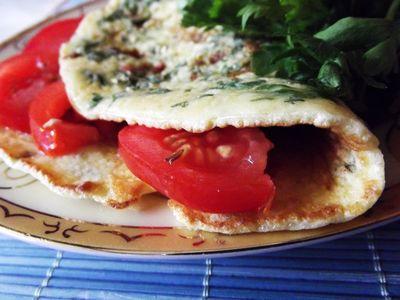 Omlet zielony, czyli z natką pietruszki smażony