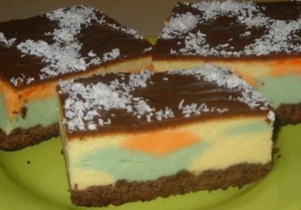 Sernik kolorowy na kakaowym spodzie