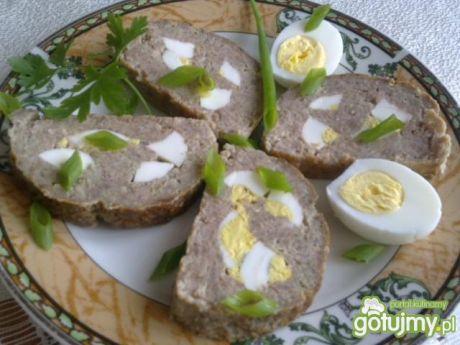 Przepis  mięso mielone pieczone z jajkiem przepis