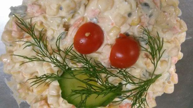 Przepis  sałatka z pora, jajek i kukurydzy przepis