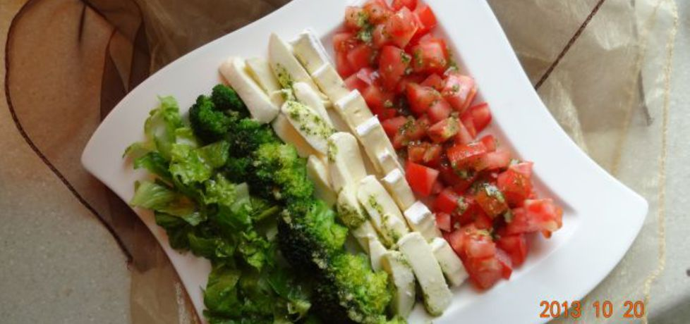 Kolorowy talerz sałatkowy (autor: stokrotka)