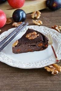 Dietetyczne brownie z kaszy jaglanej z jagodami goji i orzechami ...