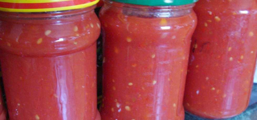 Pomidory z papryką chilli jak keczup-sos... (autor: w-mojej