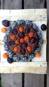 Owsiane ciasto z owocami bez tłuszczu