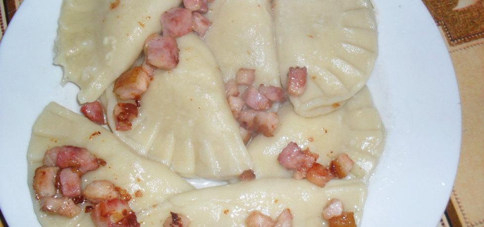Pierogi z białym serem i boczkiem (autor: kuklik)