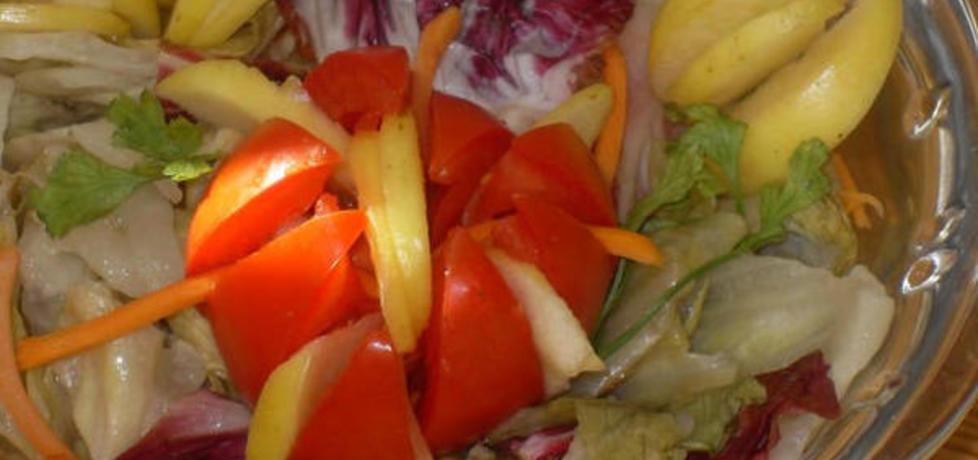 Sałatka z kolorowych sałat (autor: aseret)