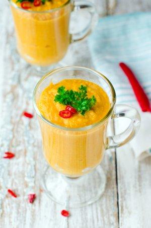 Zupa krem z marchewki z nutą pomarańczy