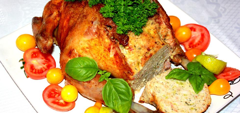 Pieczony kurczak faszerowany piersią i brokułami (autor: iskierka.ag ...