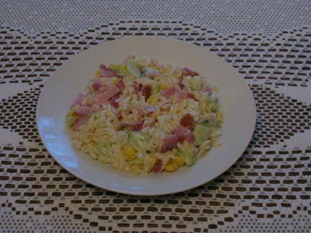 Przepis  sałatka makaronowa a la ryż przepis