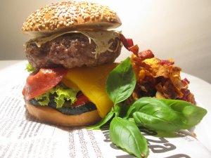 Krakowski bajgiel burger  prosty przepis i składniki