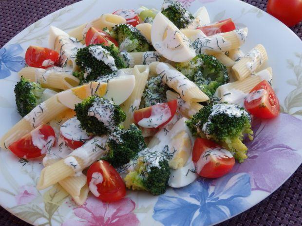 Przepis  sałatka brokułowa z makaronem przepis
