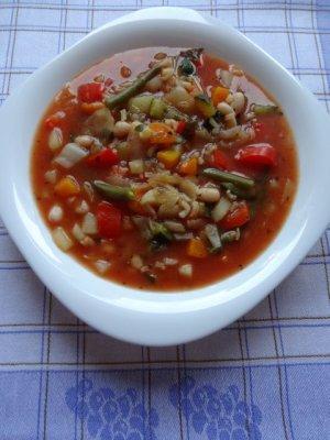 Włoska zupa minestrone  prosty przepis i składniki
