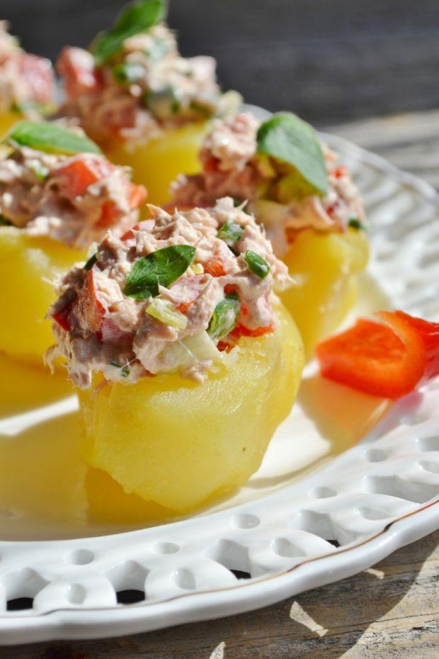 Przepis  miseczki ziemniaczane z tuńczykiem przepis