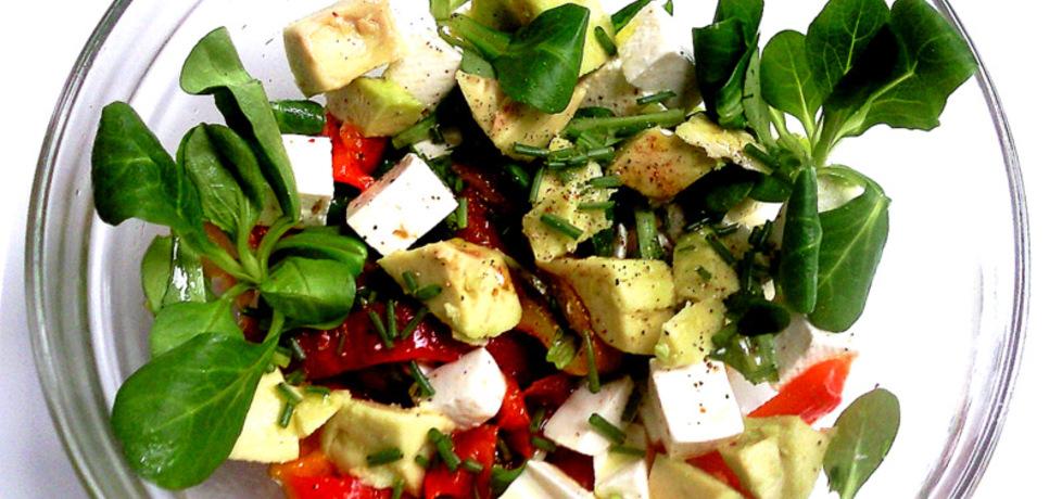 Sałatka z avocado,fetą i roszponką (autor: cris04)