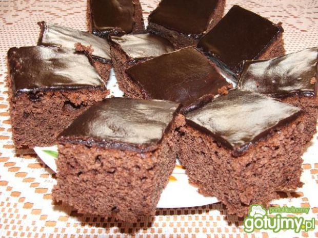 Przepis  ciasto kakaowe z polewą przepis