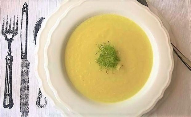 Przepis  zupa krem z fenkuła  kopru włoskiego przepis