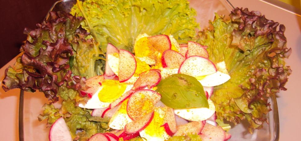 Sałatka z rucolą, rzodkiewką i jajkiem (autor: mama