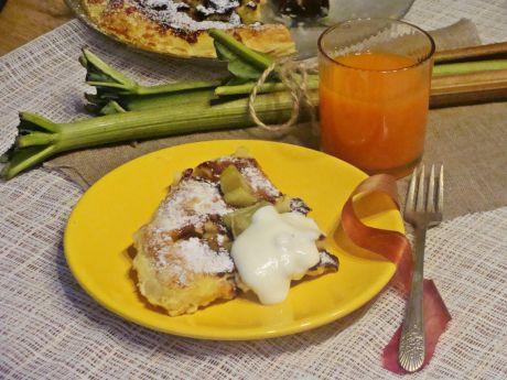 Przepis  wielki omlet z rabarbarem przepis