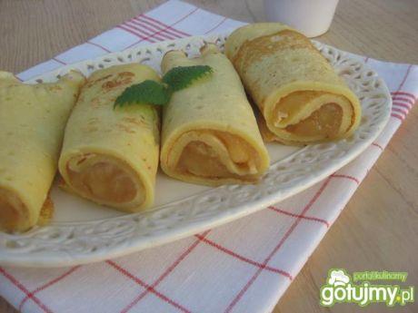 Przepis na: naleśniki z prażonymi jabłkami :gotujmy.pl