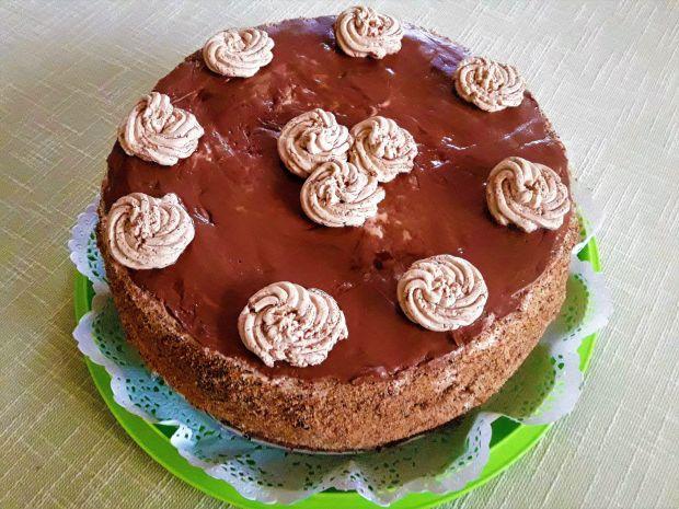 Przepis  imieninowy tort orzechowo  czekoladowo