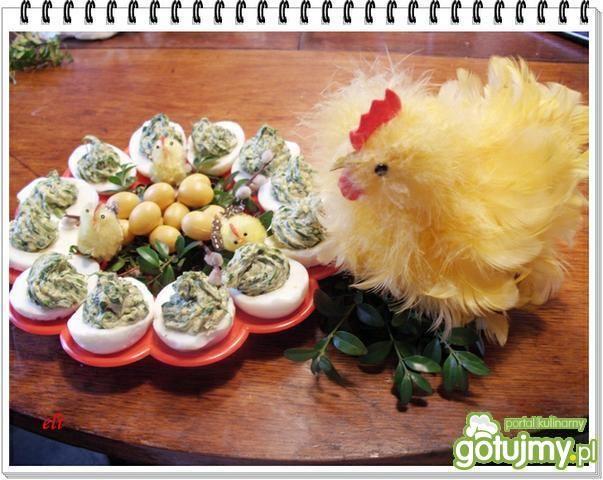 Przepis  jajka faszerowane szpinakiem eli przepis