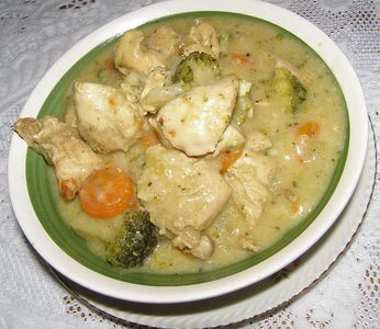 Gulasz z indyka z warzywami