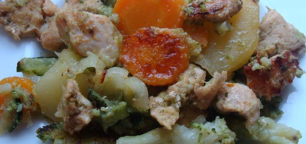 Aromatyczny kurczak pieczony z warzywami (autor: paulina2157 ...
