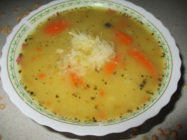 Przepis  zupa grochowa z kiszoną kapustą przepis