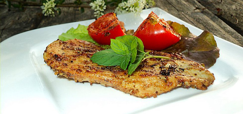 Filet z kurczaka w ziołach grillowany z pomidorami (autor: anna133 ...