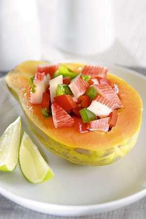 Sałatka z papają  prosty przepis i składniki
