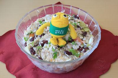 Sałatka z makreli ryżowej dla głodomora