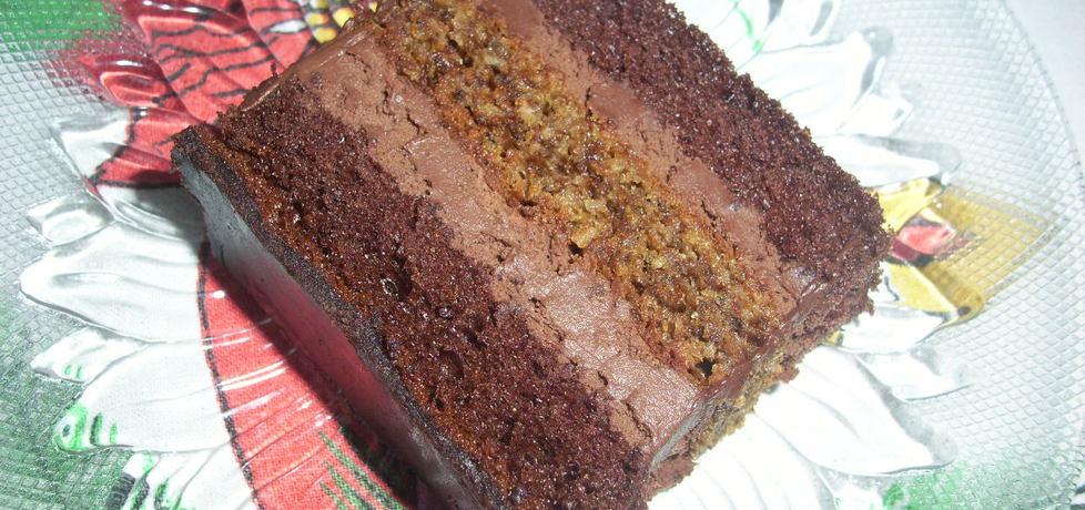 Ciasto czekoladowo  orzechowe (autor: misia53)