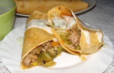 Tortilla drobiowo-warzywno