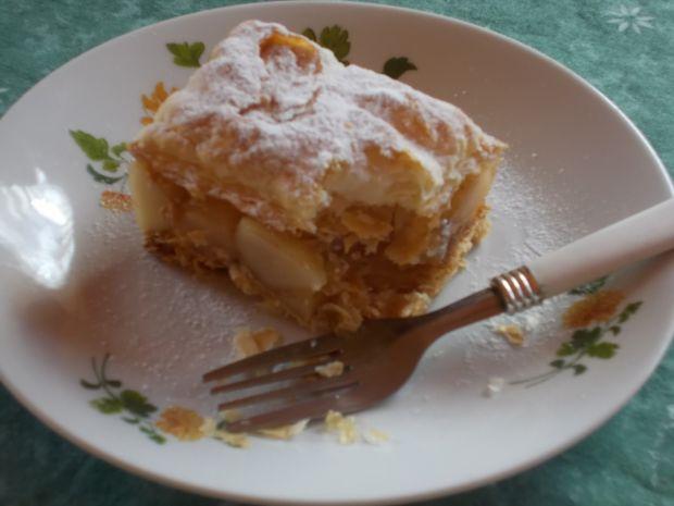 Przepis  jabłecznik z brzoskwiniową nutką przepis