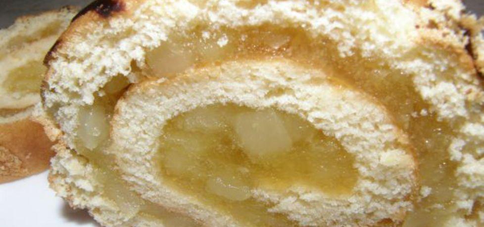 Rolada biszkoptowa z jabłkami (autor: ewelina38)