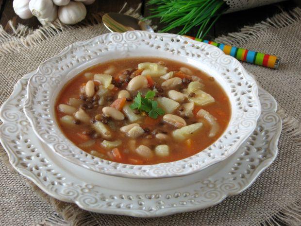 Przepis  zupa z soczewicą i fasolą przepis