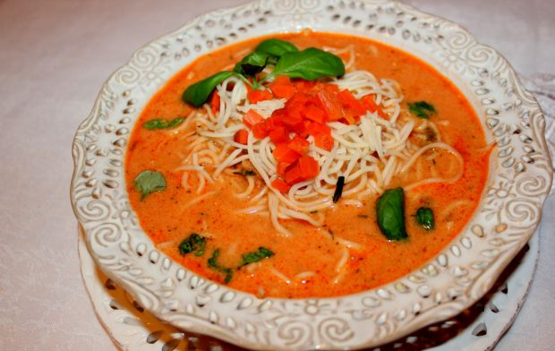 Przepis  zupa pomidorowa z mascarpone przepis