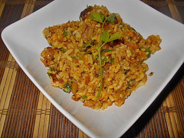 Przepis  ryż z wędzoną makrelą przepis