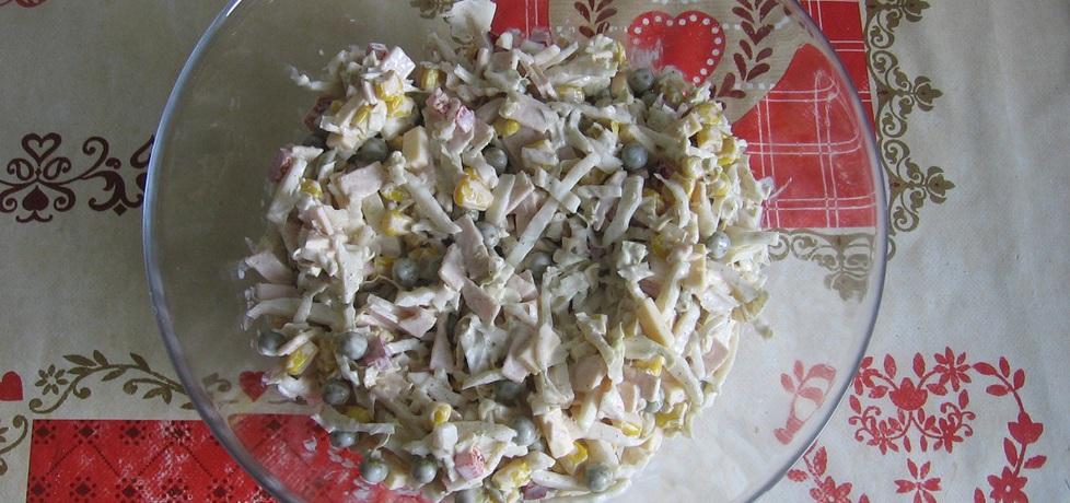 Sałatka z kapustą pekińską, szynką i żółtym serem (autor: ania321 ...