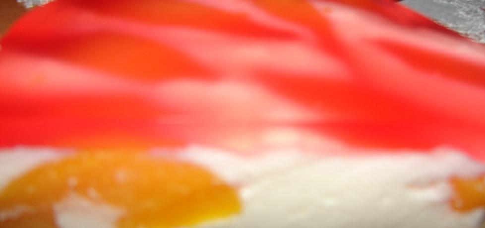 Biszkopt ze śmietaną, brzoskwiniami i galaretką (autor: motorek ...