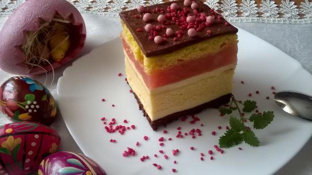 Przepis  ciasto z wkładką serową przepis