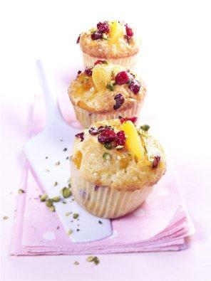 Muffinki z morelami i żurawinami  prosty przepis i składniki