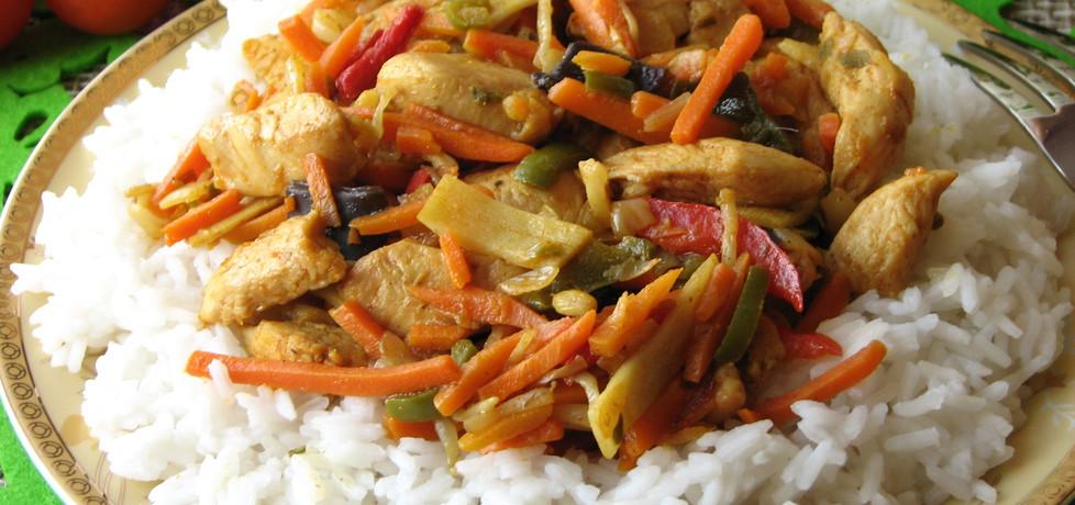 Kurczak z warzywami po chińsku (autor: bogusia