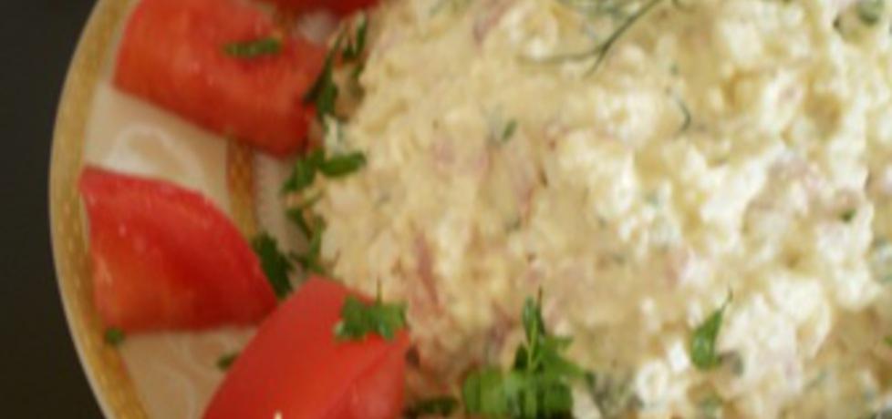 Pasta białkowa (z jaj, sera i szynki) (autor: ilka86)