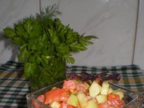 Przepis  salsa z pomidorów i ogórków przepis
