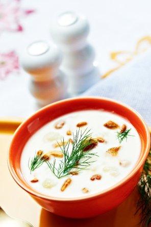Krem z kalafiora z kurkami  prosty przepis i składniki