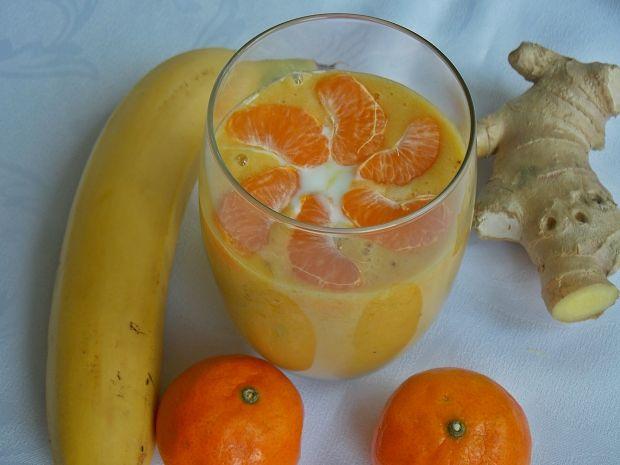 Przepis  smothie bananowo-mandarynkowe przepis