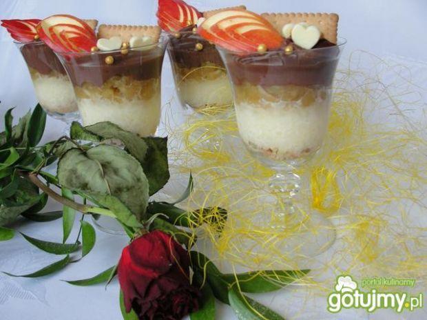 Przepis  tęczowy deserek na szybko przepis