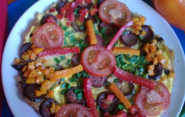 Przepis  paprykowy omlet śniadaniowy przepis